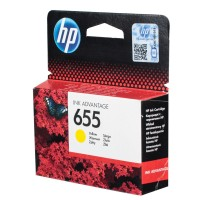 HP 655 Yellow Ink Cartridge HPCZ112A