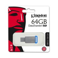 USB Флеш  64GB 3.0 Kingston DT50/64GB металл