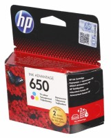 HP 650 Tri-color Ink Cartridge CZ102A